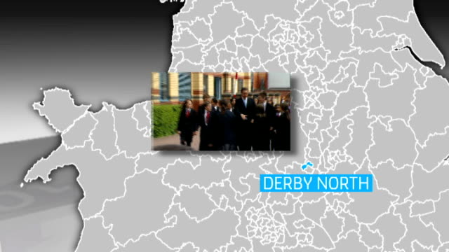 cameron campaigning in the derby north constituency with graphic - derbyshire stock videos & royalty-free footage
