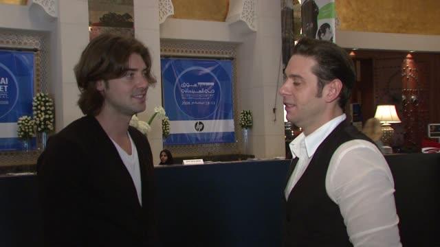 Derek Anderson and Victor Kubicek at the 2008 Dubai International Film Festival Terminator Salvation Interviews at Dubai