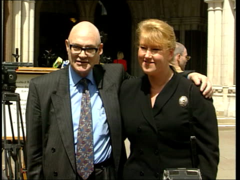 Appeal ITN ENGLAND London Royal Courts of Justice Maria DingwallBentley Benedict Birnberg posing for press photocall Maria DingwallBentley...