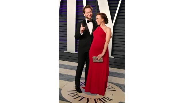 derek blasberg and anne wojcicki attend the 2019 vanity fair oscar party hosted by radhika jones at wallis annenberg center for the performing arts... - vanity fair stock videos and b-roll footage