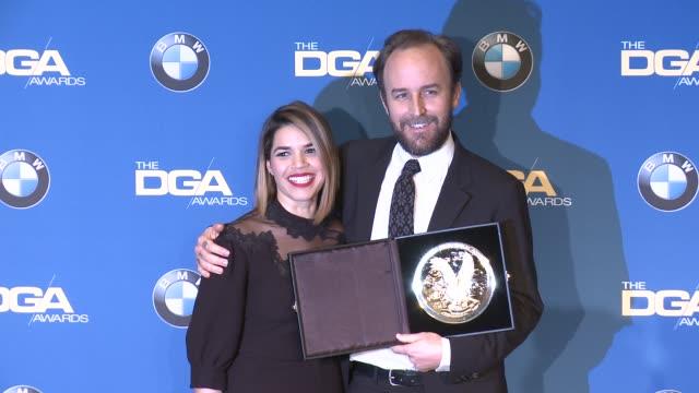 derek cianfrance, america ferrera at 69th annual directors guild of america awards in los angeles, ca 2/4/17 - director's guild of america stock videos & royalty-free footage