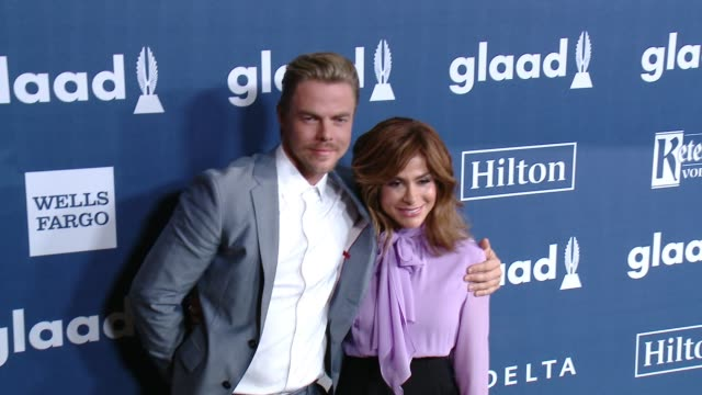 Derek Hough and Paula Abdul at the 27th Annual GLAAD Media Awards at The Beverly Hilton Hotel on April 2 2016 in Beverly Hills California