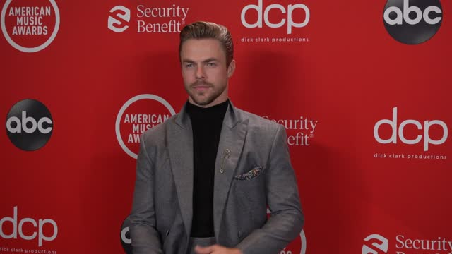 derek hough at the 2020 american music awards at the microsoft theater on november 22, 2020 in los angeles, california. - microsoft theater los angeles stock videos & royalty-free footage