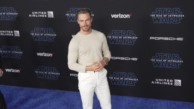 """derek hough at the premiere of disney's """"star wars: the rise of skywalker"""" on december 16, 2019 in hollywood, california. - star wars stock videos & royalty-free footage"""