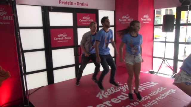 Derek Hough dances at the the Kellogg's Cereal and Milk even Celebrity Sightings in New York on June 26 2014 in New York City