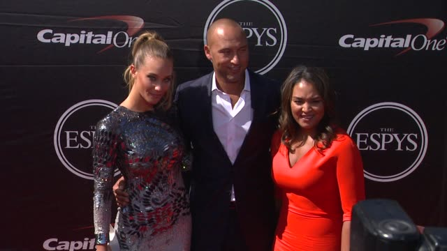 derek jeter and hannah davis at the 2015 espys at microsoft theater on july 15 2015 in los angeles california - microsoft theater los angeles stock videos and b-roll footage