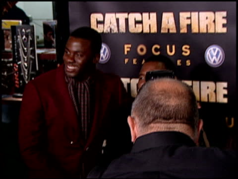 derek luke and patrick chamusso at the 'catch a fire' los angeles premiere at arclight cinemas in hollywood california on october 25 2006 - arclight cinemas hollywood stock videos and b-roll footage