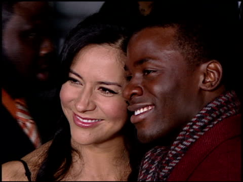 derek luke and wife sophia luke at the catch a fire los angeles premiere at arclight cinemas in hollywood california on october 25 2006 - arclight cinemas hollywood stock videos and b-roll footage
