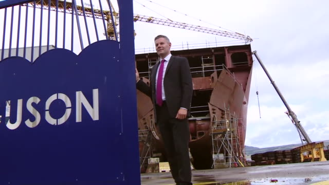 derek mackay at ferguson shipyard - dial stock videos & royalty-free footage