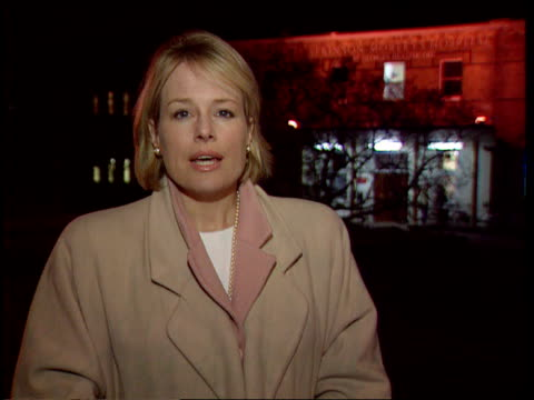 derek nimmo critically ill; itn london: wimbledon at night atkinson morley's hospital, where nimmo has been transferred i/c - デレク・ニモ点の映像素材/bロール