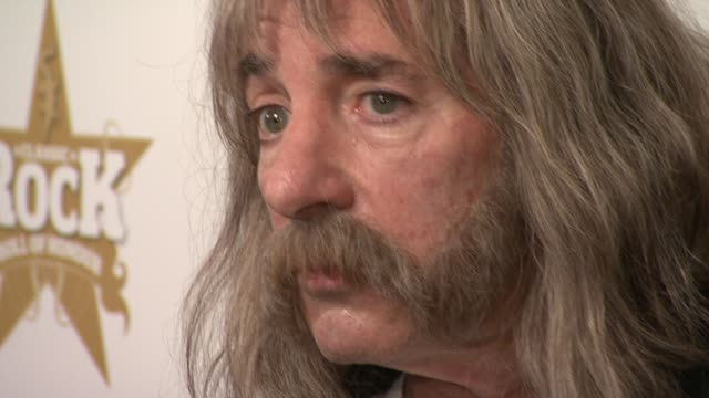 derek smalls from spinal tap at the spinal tap announce classic rock roll of honour nominations at london england - モダンロック点の映像素材/bロール