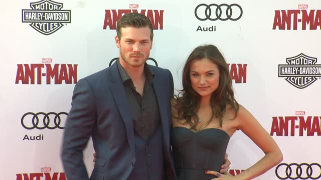 Derek Theler and Christina Ochoa at The World Premiere of Marvel's AntMan at Dolby Theatre on June 29 2015 in Hollywood California