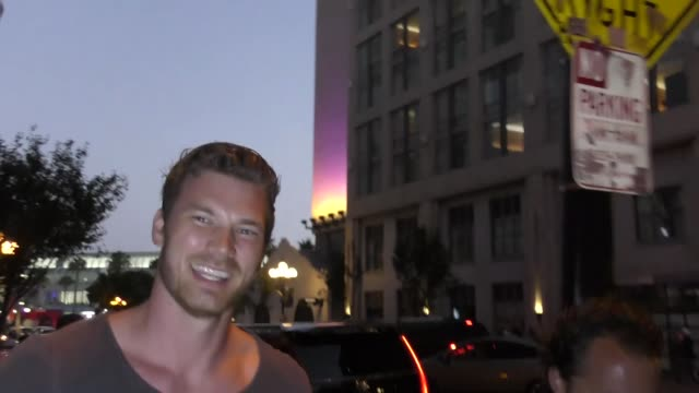 INTERVIEW Derek Theler on if he is a good hockey player at Celebrity Sightings at San Diego ComicCon International on July 22 2017 in San Diego...