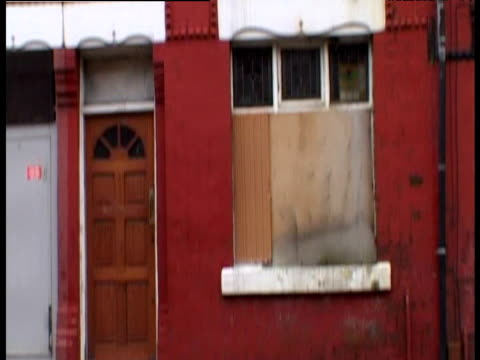 derelict houses on run-down langworthy estate - bad condition stock videos and b-roll footage