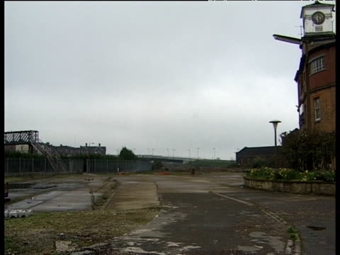 vidéos et rushes de derelict industrial area derby - plante sauvage