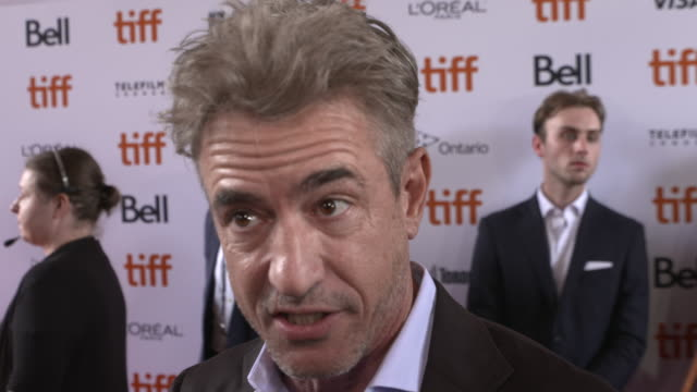 dermot mulroney on how it feels to be celebrating the world premiere at tiff, what we can expect from the series, talks his character's narrative and... - toronto international film festival stock videos & royalty-free footage