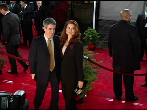 dermot mulrooney and debra messing at the 2005 people's choice awards arrivals at the pasadena civic auditorium in pasadena california on january 10... - pasadena civic auditorium stock videos & royalty-free footage