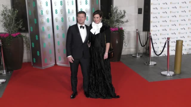 dermot o'leary and dee koppang attend the ee british academy film awards 2020 after party at the grosvenor house hotel on february 02 2020 in london... - british academy film awards stock videos & royalty-free footage