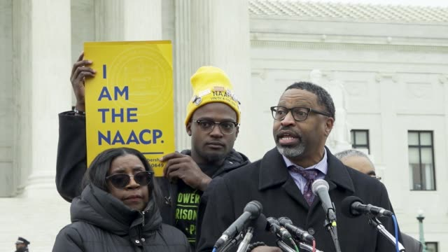 derrick johnson naacp president and ceo daca recipients stand before the us supreme court in washington dc on november 12 2019 the first day of the... - naacp stock videos & royalty-free footage