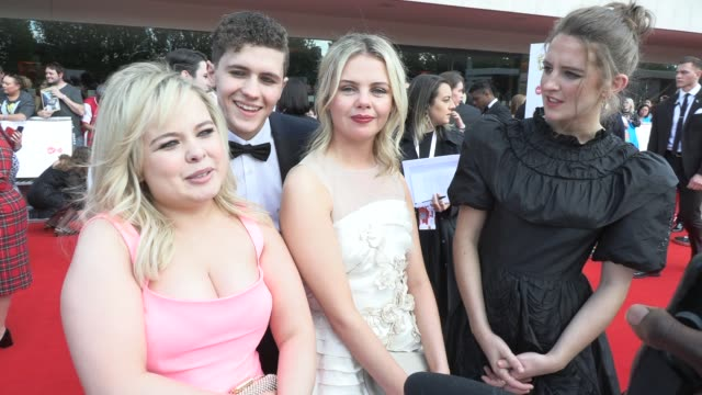 derry girls on being adults and who they aspire to follow at the royal festival hall on may 12 2019 in london england - british academy television awards stock videos & royalty-free footage