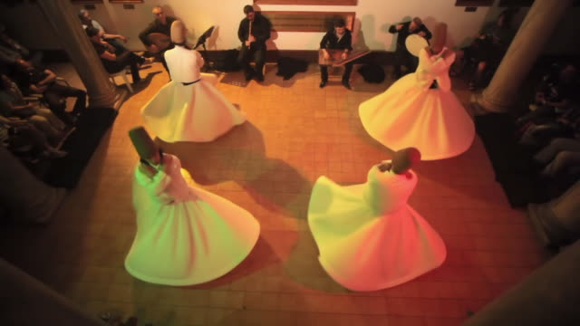 WS HA Dervishes during Sufi whirling, Istanbul, Turkey