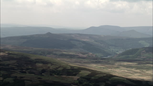 Derwent Moors And Wheel Stones  - Aerial View - England, Derbyshire, High Peak District, United Kingdom
