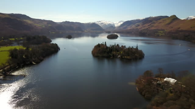 derwent water, cumbria, uk. - english lake district stock videos and b-roll footage