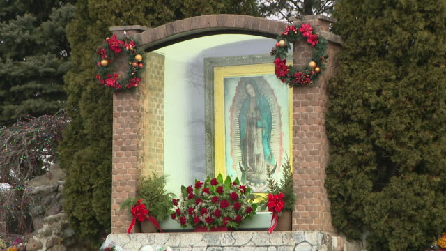 wgn des plaines il us scenes from shrine of our lady of guadalupe place of annual pilgrimages on wednesday december 11 2019 - female likeness stock videos & royalty-free footage
