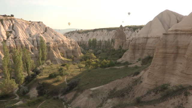 Descending into a Canyon, Cappadocia, Turkey