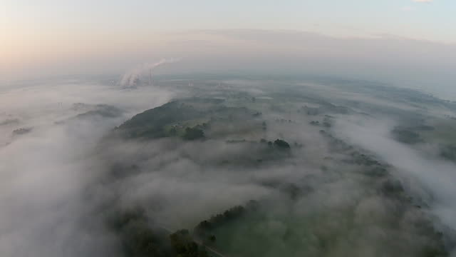 descending through the fog and clouds - appalachian mountains stock videos & royalty-free footage