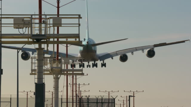 descent for landing - lax airport stock videos & royalty-free footage