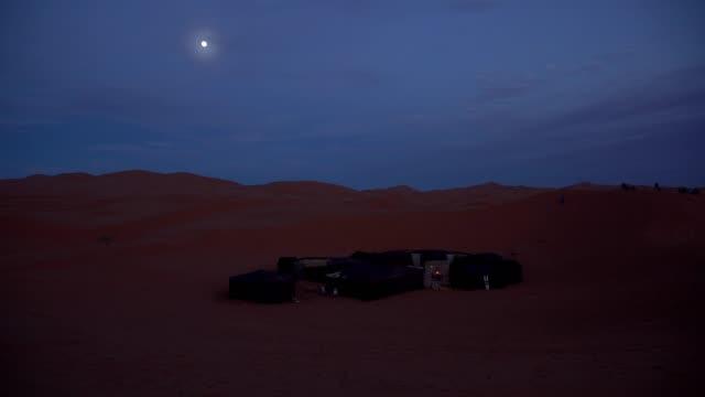 desert camp at night - sahara desert stock videos & royalty-free footage