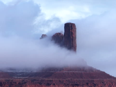 desert castle in fog - natural column stock videos and b-roll footage