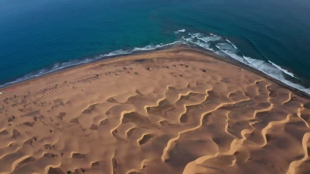 desert coastline. aerial view - sand stock videos & royalty-free footage