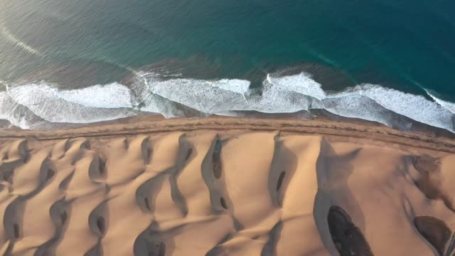 desert coastline of gran canaria. aerial view - coastline stock videos & royalty-free footage