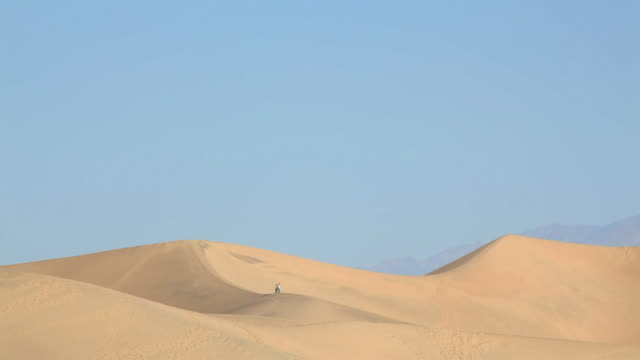 desert dunes with people walking - wide shot stock videos & royalty-free footage