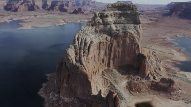 desert formations of lake powell in arizona and utah - lake powell stock videos and b-roll footage