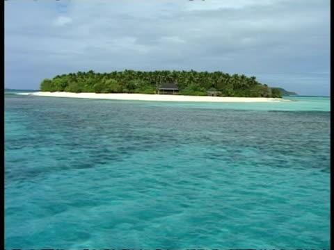 Desert island, from sea, Tonga