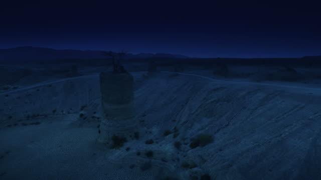 Paisagem do deserto. Filmagem aérea
