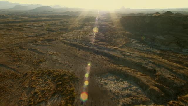 Desert landscape at golden hour in Big Bend National Park.