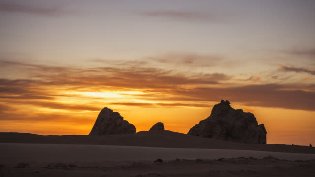 desert landscape in qinghai province,west china - 山間道路点の映像素材/bロール