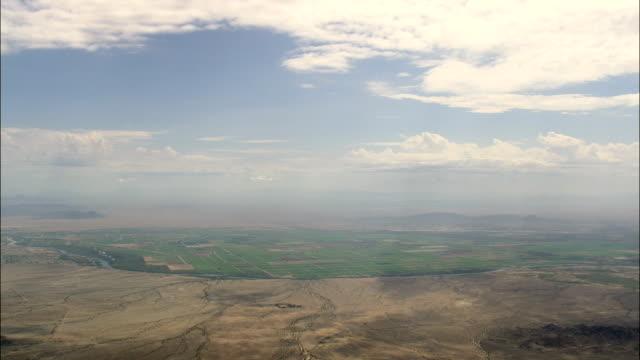 Al confine con paesaggio del deserto Arizona-Vista aerea-California, Contea di San Bernardino, Stati Uniti