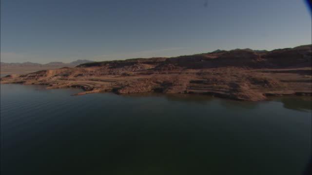 Desert mountains surround Lake Mead.