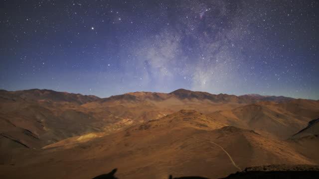 desert night sky - tilt up stock videos & royalty-free footage