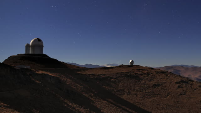 desert observatory in moonlight - observatory stock videos & royalty-free footage