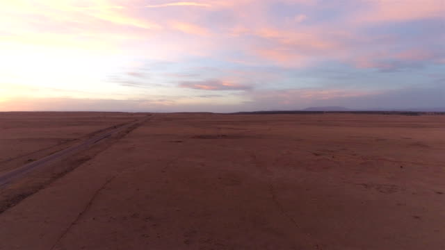 desert road at sunset - texas stock videos & royalty-free footage