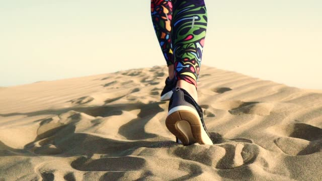 desert run. rear view - sand dune stock videos & royalty-free footage