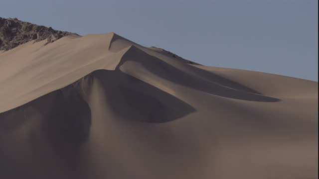 Desert sand dune, Skeleton Coast, Namibia. Available in HD.