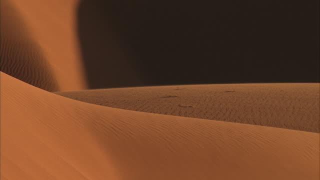 ms, pan, desert sand dunes / california - palm springs california stock videos & royalty-free footage