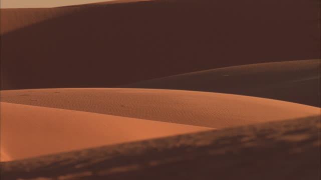 zo, pan, ws, desert sand dunes / california - palm springs california stock videos & royalty-free footage